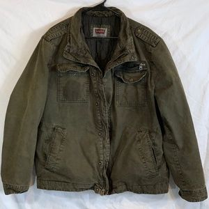 Levi's Stand-Collar Military Jacket Shell Jacket